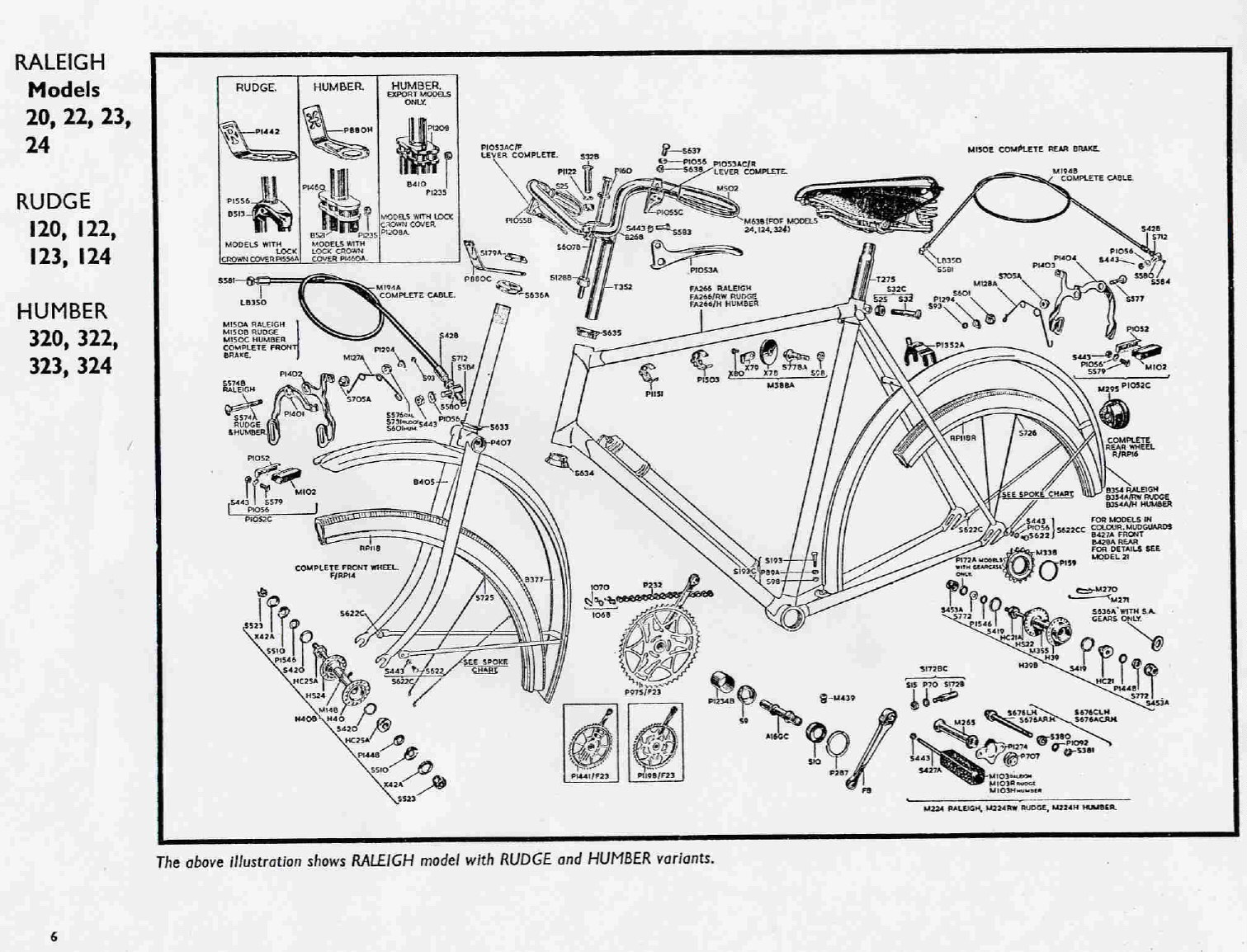 raleigh rudge humber exploded diagrams